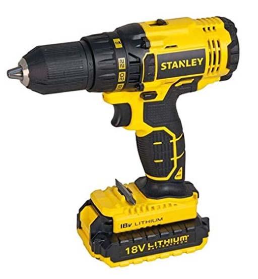 STANLEY CORDLESS D/DRILL 18V 1.5AH