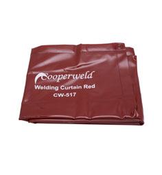 COOPERWELD WELDING CURTAIN RED 6X6
