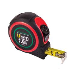 UKEN MEASURING TAPE 5 MTR(19MM)RUBBER