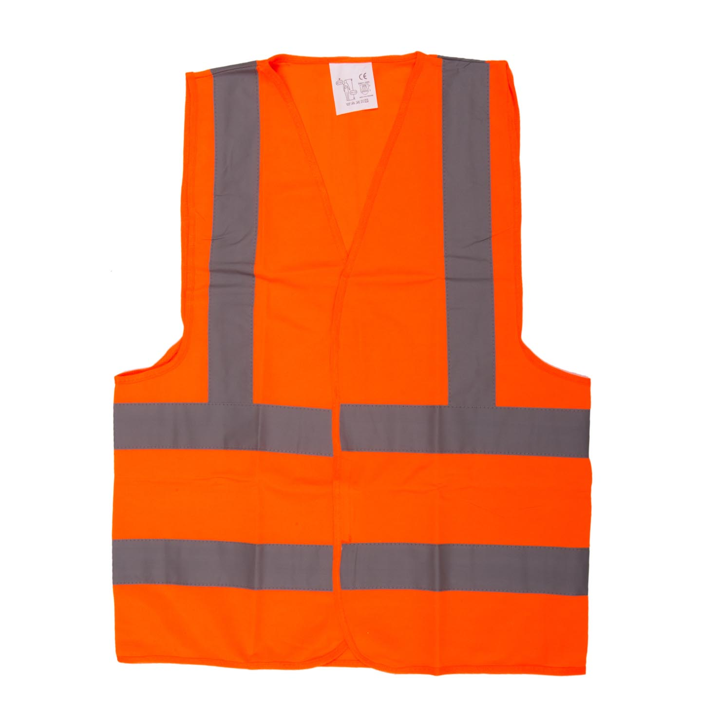 SAFETY JACKET ORANGE FABRIC TYPE - MEDIUM